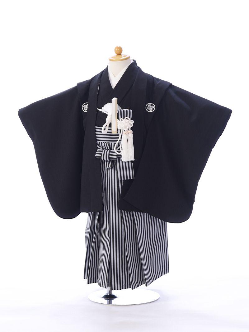 e-きものレンタル 東京ショールーム 七五三 試着 黒紋付 3歳 男の子